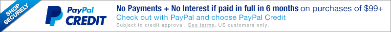 No payments or interest if paid in 6 months with Paypal